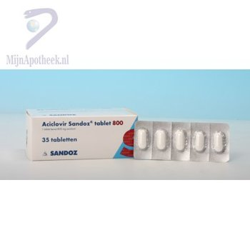 ACICLOVIR SANDOZ TABLET 800MG