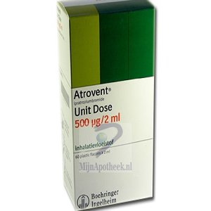 ATROVENT UNIT DOSE VERNEVELOPL 250MCG/ML FL 2ML