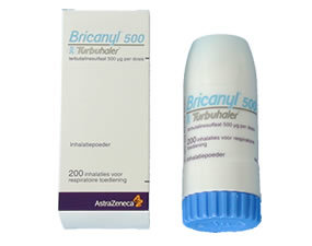 BRICANYL TURBUHALER INHALPDR 0,5MG/DO 100DO