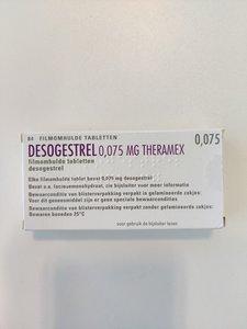 DESOGESTREL THERAMAX TABLET FILMOMHULD 0,075MG